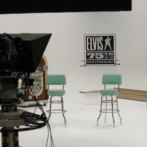 Studio A set up for the 75th Anniversary Elvis Collection infomercial.