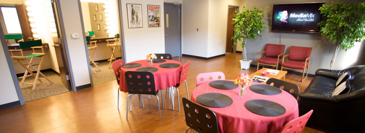 MediaMix green room, make-up rooms, and production offices