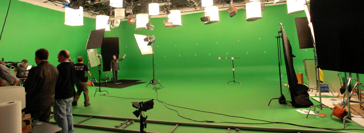 WGBH-Boston shooting on green screen in Studio A for an episode with Dr. Brian Greene. Yes, we see the irony.