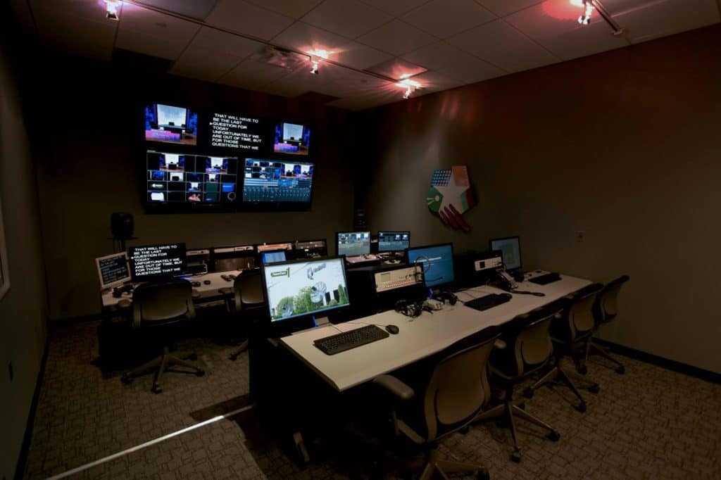 Video Control room photo at MediaMix