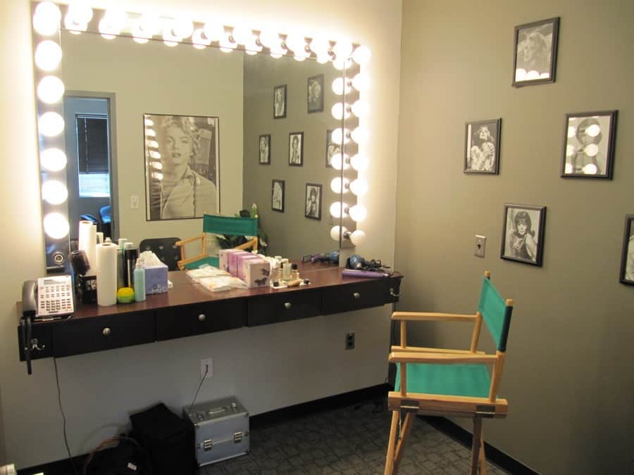 One of two make-up rooms at MediaMix Studios.