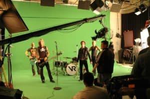 green screen studio - Band in Studio A