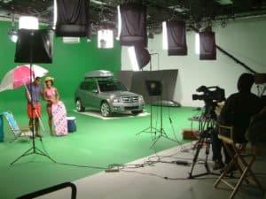 green screen studio - Car on green screen in Studio A