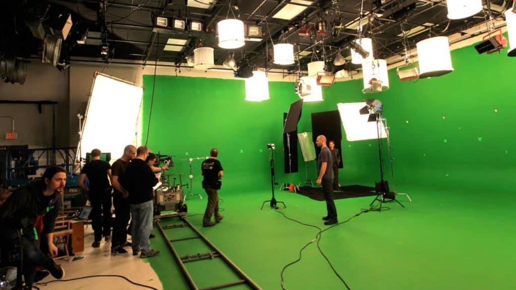 green screen studio - shoot in studio A for NOVA