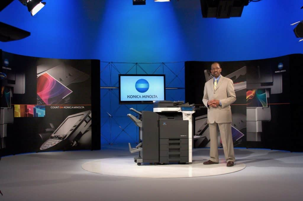 Custom Set for Konica Minolta in Studio A
