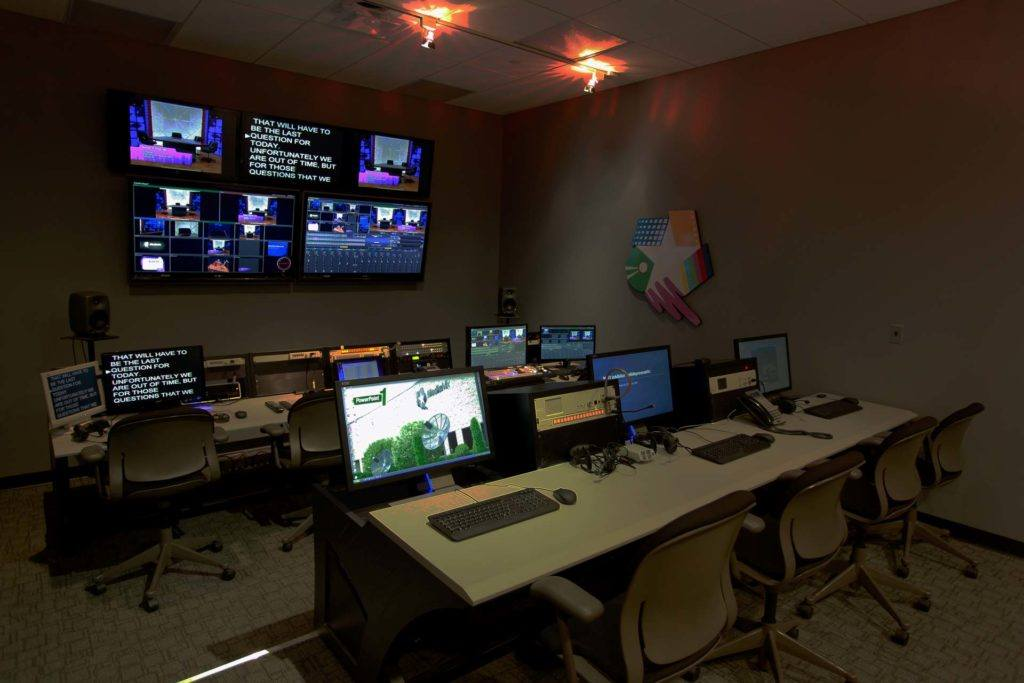 Photo of the Control Room at MediaMix Studios