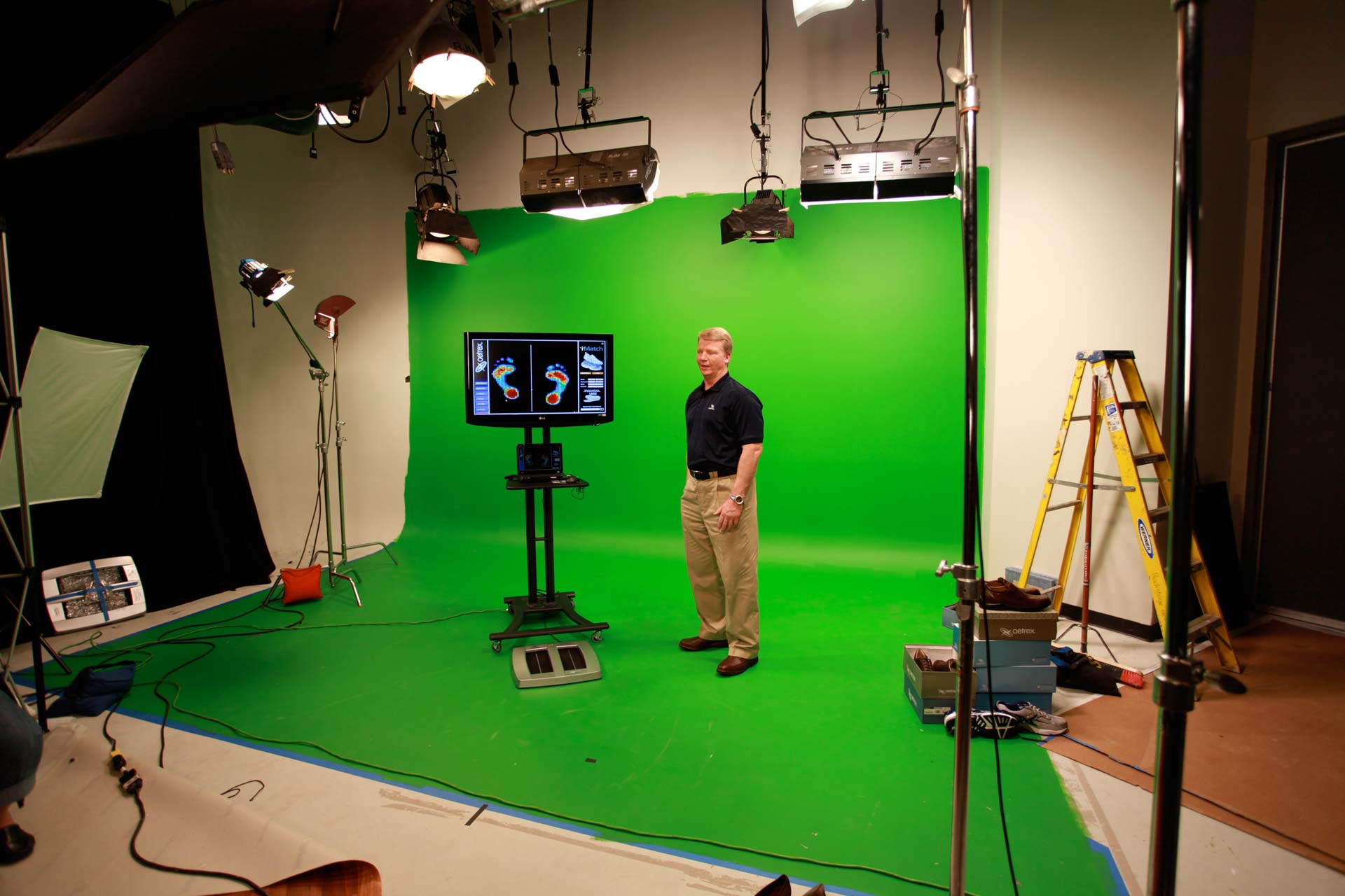 Green Screen Shoot in Studio B